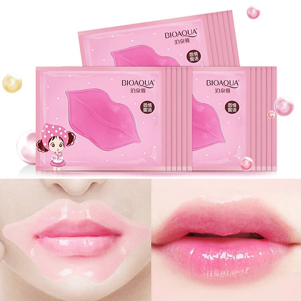BIOAQUA 1PC Lip Gel Mask Care Hydrating Repair Remove Lines Anti-wrinkle Lighten Lip Line Collagen Lip Mask To Moisturize TSLM2