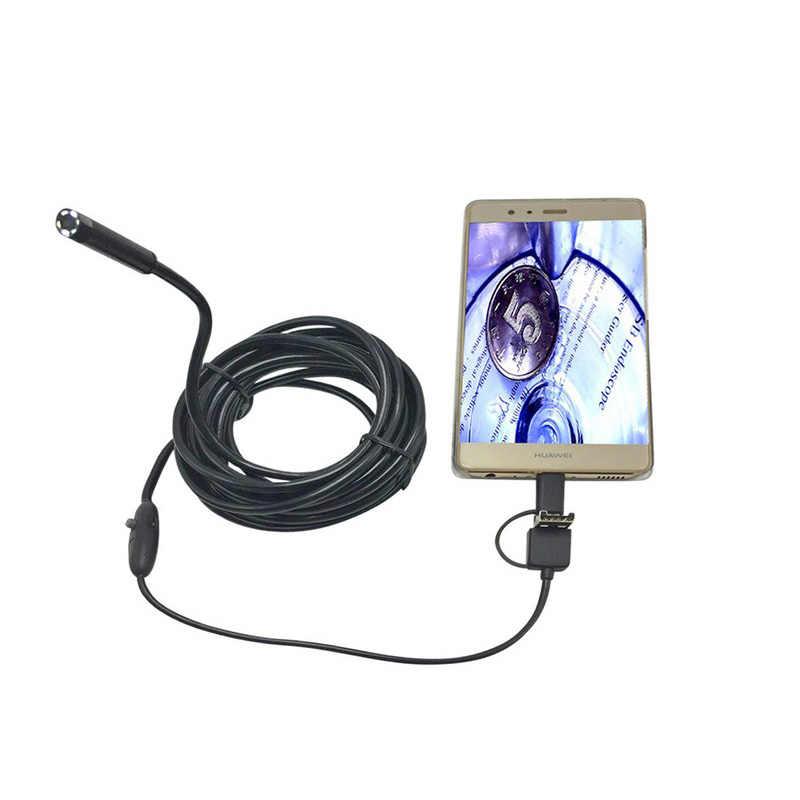 Эндоскоп Android Тип 3 в 1 C USB PC мобильный телефон 8 мм объектив регулируемые светодиодные фонари осмотр мини-камера бороскоп