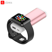 Magnetic Wireless Charger for Apple Watch for iWatch Series 4 3 2 1 38mm 42mm 5200mAh Power Bank with Charging Cable For iPhone
