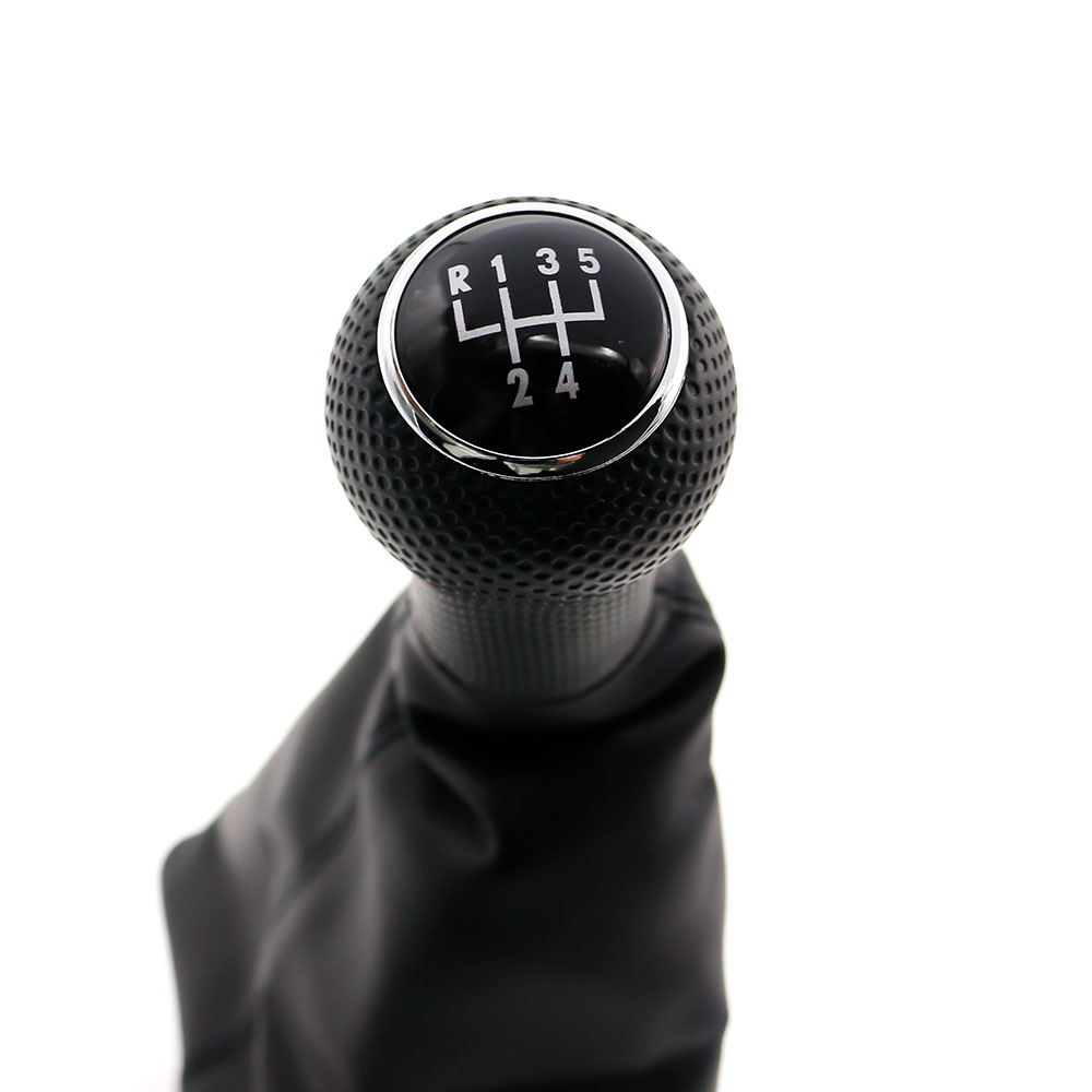 100% Quality Car Gear Shift Knob Black Caps 5 Speed Gear Shift Knobs Boot For Volkswagen Jetta With Black Frame Tt100237 Superior Materials