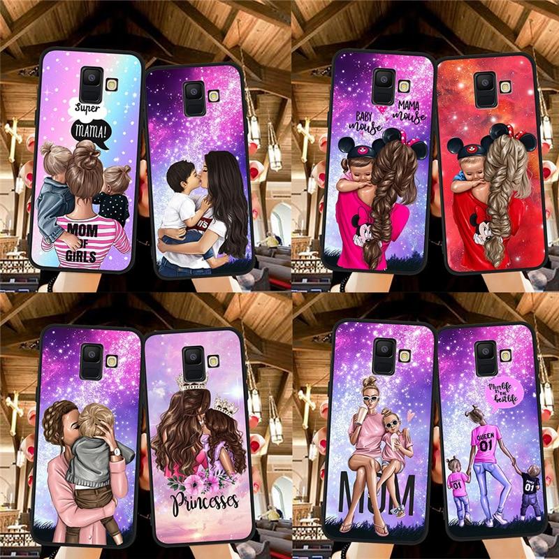 Woman Fashion Girl Baby Mom For Samsung Galaxy A9 A8 A7 A6 A5 A3 J3 J4 J5 J6 J8 Plus 2017 2018 M30 A40S A10 A20E Phone Case