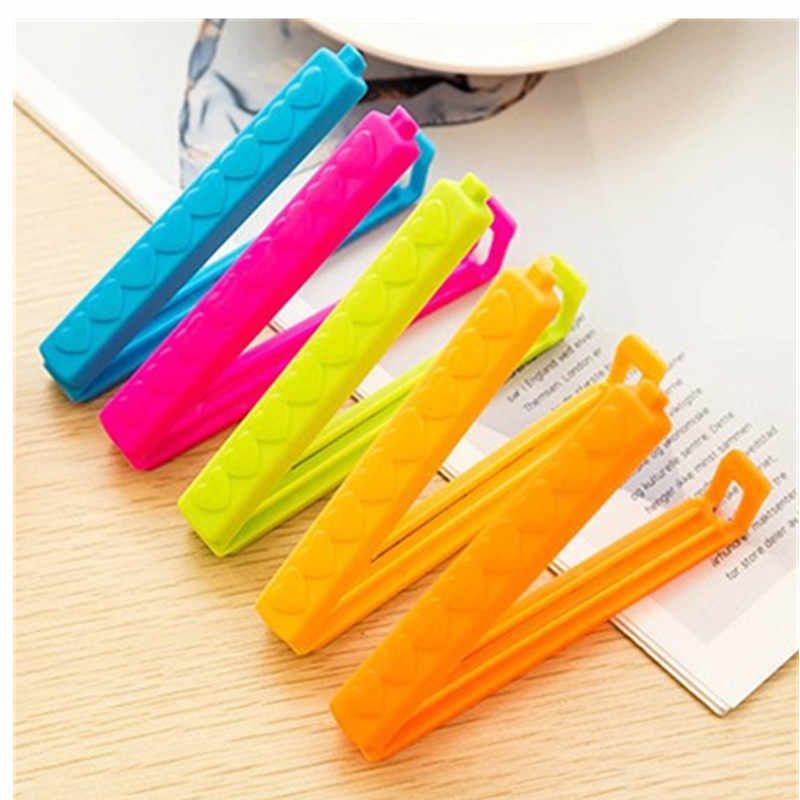 5Pcs/Lot New Househould Food Snack Storage Seal Sealing Bag Clips Sealer Clamp Food Bag Clips Kitchen Tool Home Food Close Clip