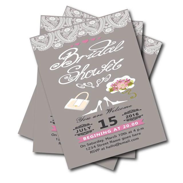 20 Stücke Personalisierte Rustikalen Spitze Hochzeit Braut Dusche  Einladungen Vintage Tafel Hochzeit Dekoration Lieferant Kostenloser Versand