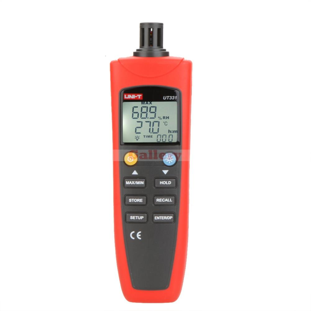 Uni T Ut331 Digital Thermo Hygrometer Thermometer Temperature Humidity Moisture Meter Tester W Lcd Backlight & Usb Ut81b  цены