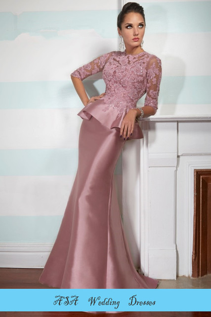 Free shipping Floor Length Two piece Evening dress Women Purple Mother of  the Bride groom dresses f821d3c4620c