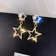 2019 New Fashion Five-pointed Star Studs Best Selling Simple Popular Gold Stars Earrings Jewelry Wholesale
