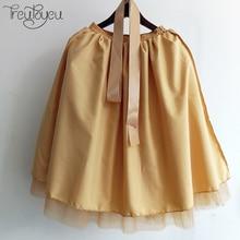 7 Layers 65cm Knee Length Tulle Skirt Tutu Women Skirt High Waist Pleated Skirt Cosplay Petticoat Elastic Belt faldas saias jupe