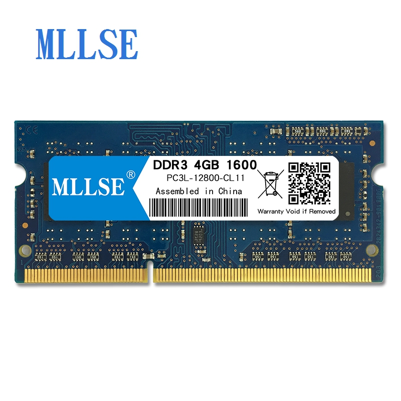 Mllse Laptop Sodimm Ram DDR3L 4GB 1600mhz 1.35V memory For notebook PC3L-12800S 204pin non-ECC Notebook RAM  memoriaMllse Laptop Sodimm Ram DDR3L 4GB 1600mhz 1.35V memory For notebook PC3L-12800S 204pin non-ECC Notebook RAM  memoria