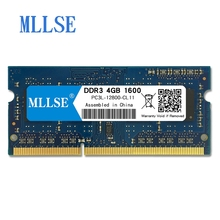 Mllse оперативная память so-dimm для ноутбука Оперативная память DDR3L 4 GB 1600 mhz 1,35 V памяти для Тетрадь PC3L-12800S 200pin non-ecc (без коррекции ошибок) Тетрадь оперативная память