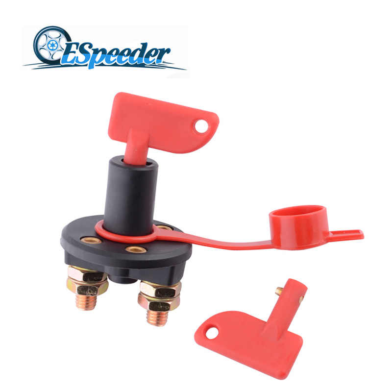 ESPEEDER Car Battery Disconnect Switch Power Isolator Cut Off Kill Switch for Marine Car Boat Rv ATV Vehicles