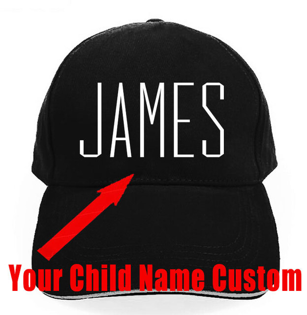 Cotton Kids Baby Child Name Custom Trucker Hat Printed Name Child Baby Son  Daughter Custom Personal Cap men Cap Gift d961eb6b6ced