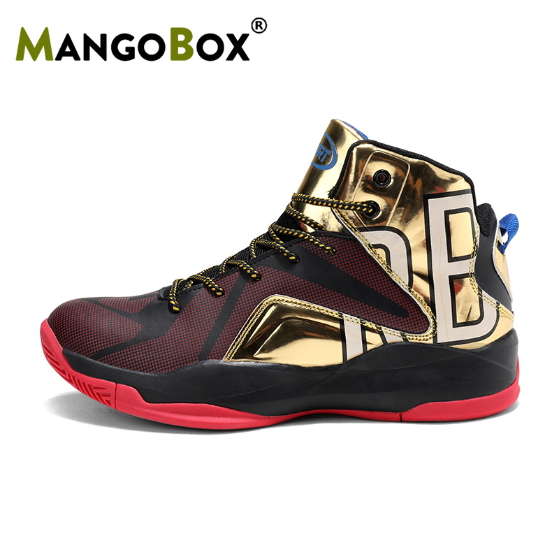 Best 2019 Man Basketball Sneakers Blue Red Men Shoe High Top Sports Shoes Big Size Mens Athletic 39-47
