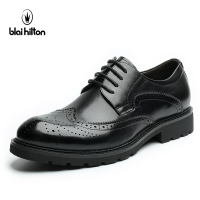 Blaibilton 100 Genuine Leather Brogue Business Formal Dress Men Shoes Classic Office Wedding Mens Shoes Casual