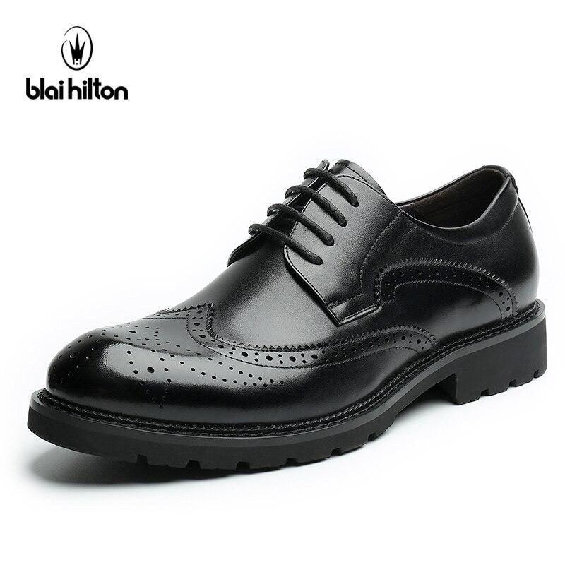 Blaibilton 100% Genuine Leather Brogue Business Formal Dresss