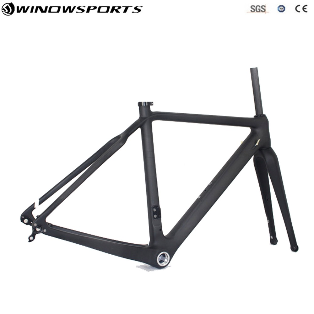 Carbon Cyclocross Bike Frame Carbon Gravel Bicycle Frame Chinese Cyclocross Frame 142*12 Carbon CX Disc Cyclocross Bike цены онлайн