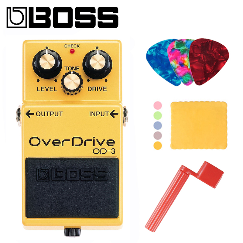 BOSS OD 3 Audio Overdrive Pedal for Guitar Bass Natural OverDrive Endless Sustain Pedal With Picks