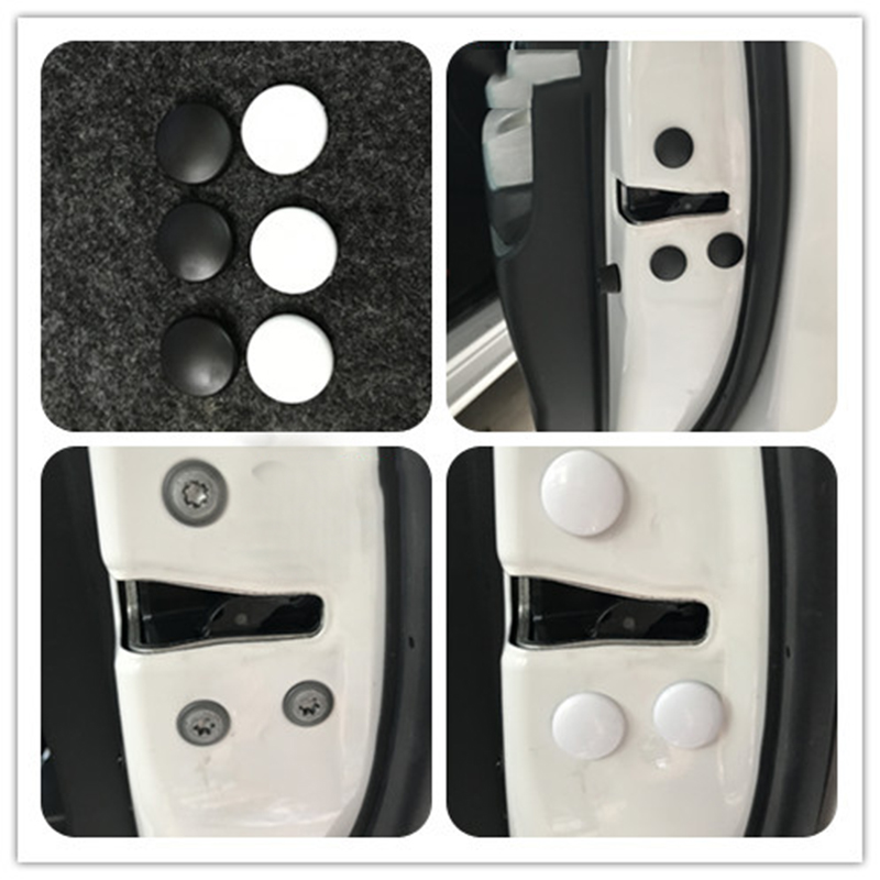 12pcs Car Door Lock Screw Protector Cover For Hyundai Tucson Elantra Creta IX25 Sonata Solaris Santafe Accessories