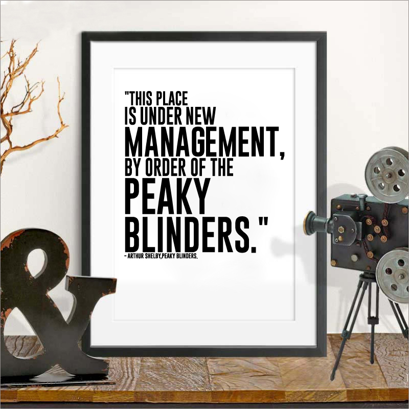 TV Series Quote Poster Peaky Blinders Print Wall Art Canvas Painting Arthur Shelby Gift