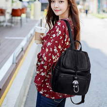 Модный кожаный рюкзак женская Ретро дорожная сумка для дам повседневные Рюкзаки Водонепроницаемая школьная сумка