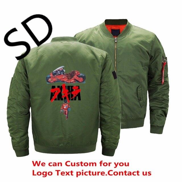 Dropshipping USA Size Hikaru no Go Akira Jacket Men Anime mens bomber  jackets and coats Plus Size Clothing ropa hombre Winter d0791de2d