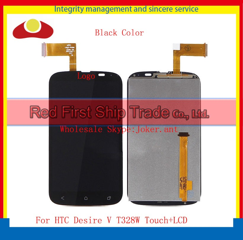 Best Qaulity Original For HTC Desire V T328W Lcd Touch Screen Digitizer Assembly Black Color Free Shipping