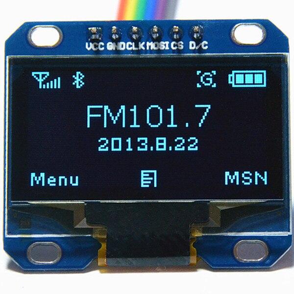 inland display 1.3 inch SPI Oled Module blue 12864 /3.3V-5V for Arduino 51 MSP420 STIM32 SCR (HTDS-BI13N)