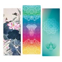 ФОТО printed yoga mat natural rubber 183*68cm*1.5mm anti slip foldable goodgrip exercise mat for fitness pilates gymnastic travel mat