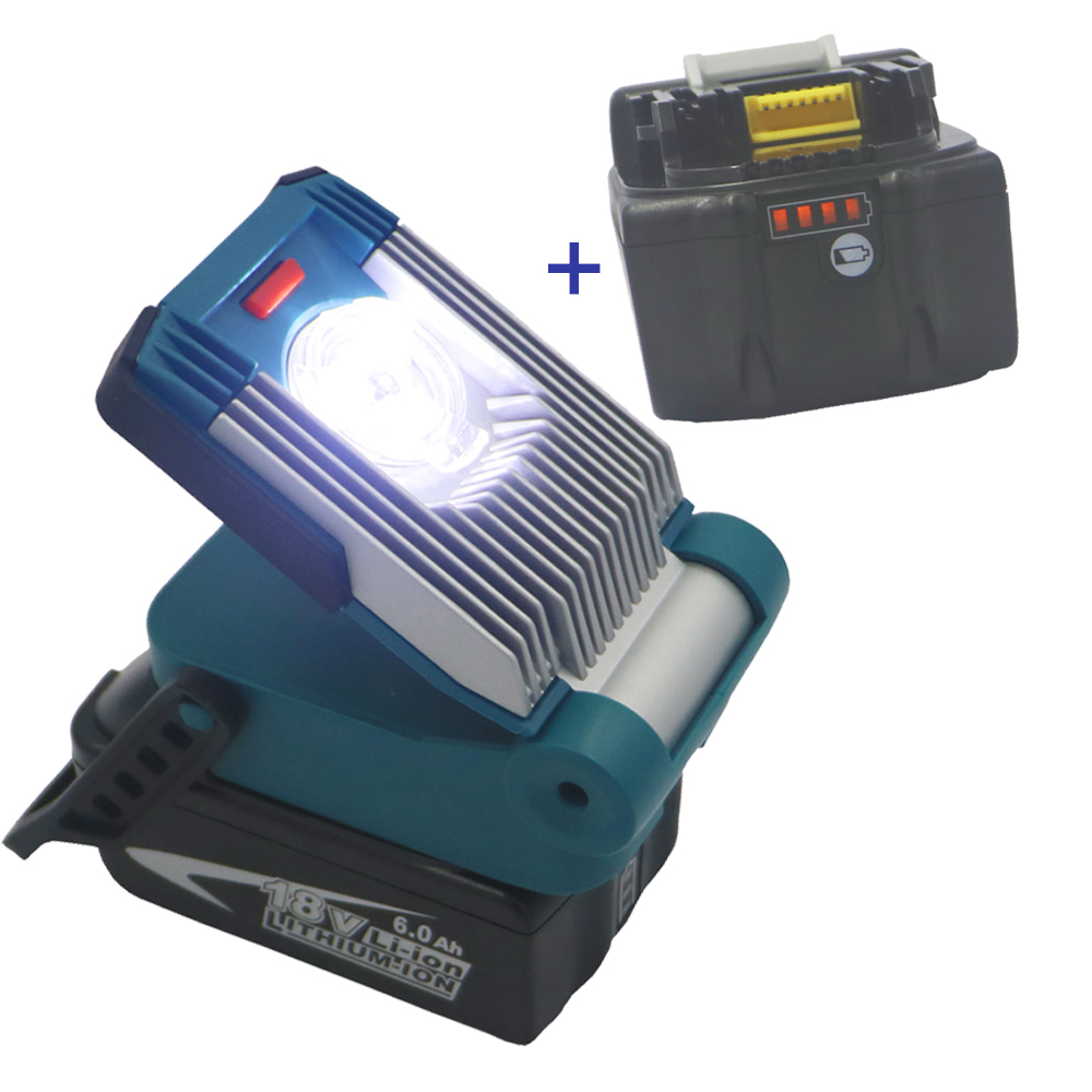 2pcs 6000MAH 6 0AH li ion battery LED Worklight for MAKITA bl1860 bl1850 bl1840 bl1815 Slider