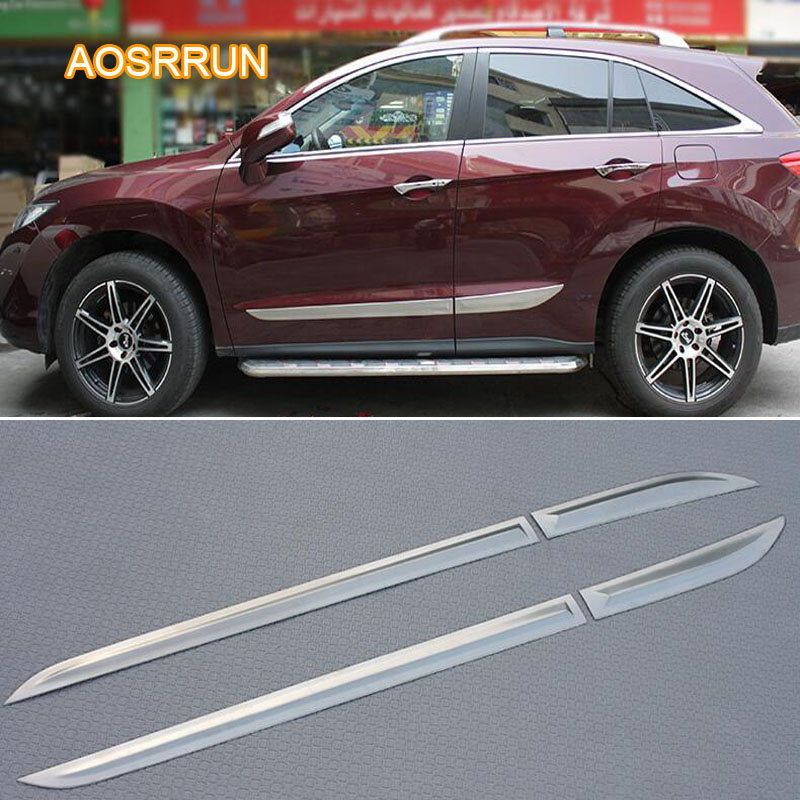 AOSRRUN Free Shipping Stainless Steel Body Trim Door Side