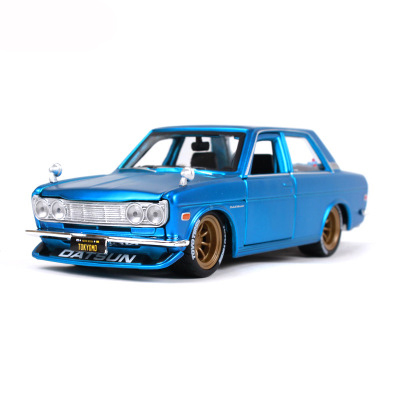 Maisto 1/24 Sports Car Nissan 1971 DATSUN 510 GTR Simulatio Collector Edition Metal Diecast Model Car Kids Toys Gift