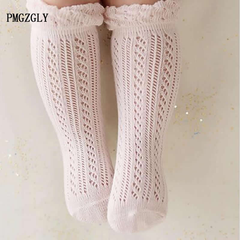 0-24 Months Toddler Baby Cotton Mesh Breathable Socks Newborn Infant Knee High Baby Girls Socks Baby Girl Socks Summer
