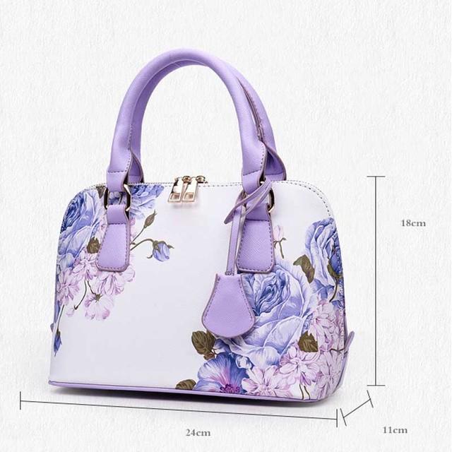 NIBESSER Printed Bags For Women 2018 Designer Bags Famous Brand Women Shopper Bag Shell Elegant Floral Shoulder Luxury Handbags