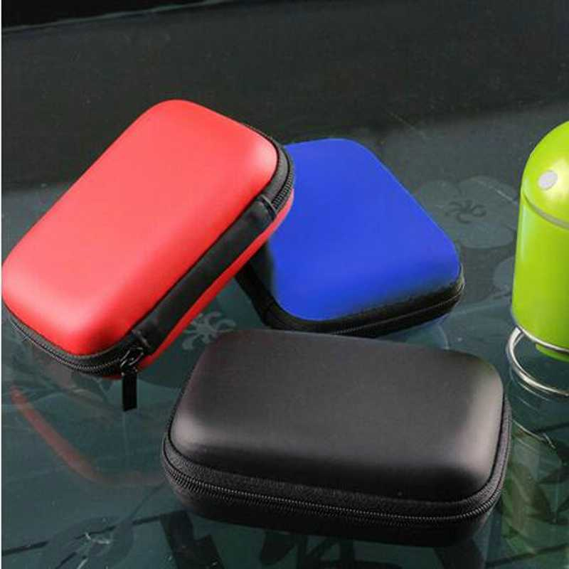 """2.5"""" HDD Bag External USB Hard Drive Disk Carry Mini Usb Cable Case Cover Pouch Earphone Bag for USB PC Laptop Hard Disk Case"""