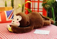 about 65cm cute brown monkey plush toy prone monkey very soft doll kid's toy Christmas gift w2057