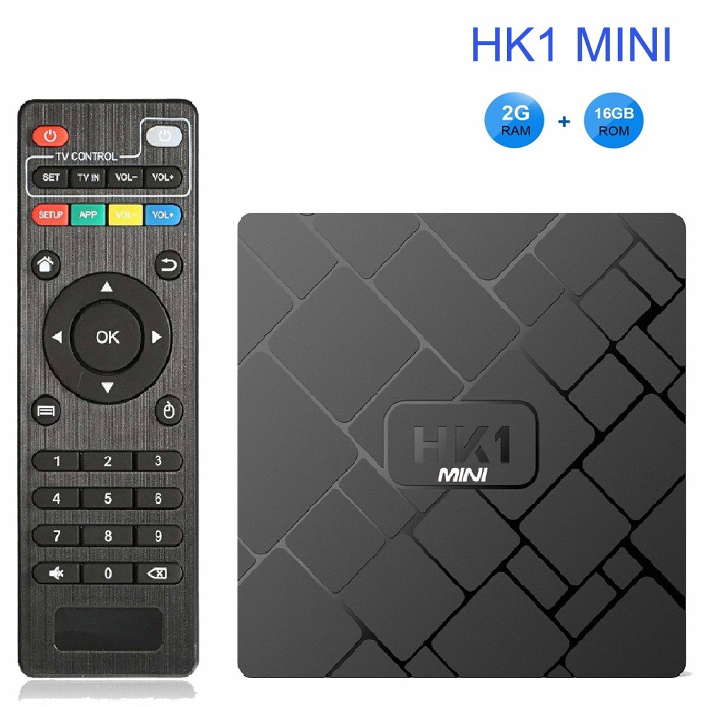 OLOEY 4 K Smart TV BOX Android 8.1 HK1 MINI lecteur multimédia Rockchip RK3229 Quadcore 2 GB/16G H.265 Sep Top Box HK1MINI pk X96 TX3