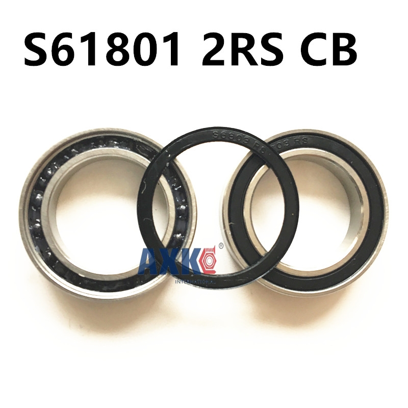 Free Shipping si3n4 Hybrid ceramic S61801 2RS CB/ S6801 2RS CB A5 12x21x5mm  ball thin section bearing 6801rs bearing abec 3 10pcs 12 21 5 mm thin section 6801 2rs ball bearings 61801 rs 6801 2rs with blue sealed l 2112dd