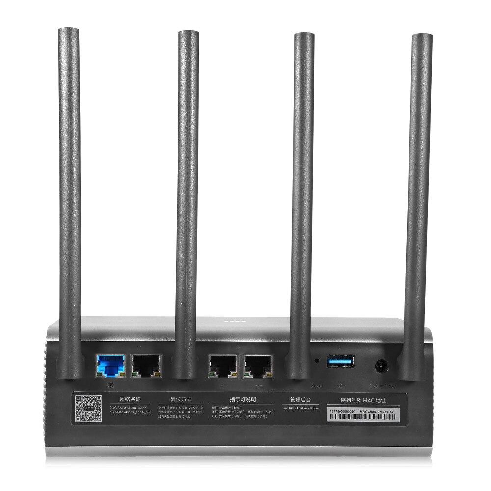 Origine Xiao mi mi R3P 2600 Mbps Routeur Sans Fil Intelligent Pro/HD 4 Antenne Double-bande 2.4 GHz + 5.0 GHz WiFi Réseau Dispositif Priorité