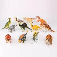 12 pçs/set Dinossauro Tiranossauro rex Modelos De Plástico Figura Brinquedos Dos Desenhos Animados Para Crianças certificação CCC presente de Natal