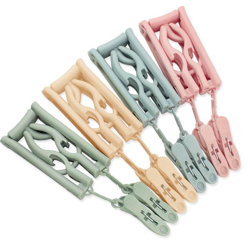 Portable Traveling Organizer Rack Folding Drying Racks Multifunction Windproof Plastic Clothes Hanger