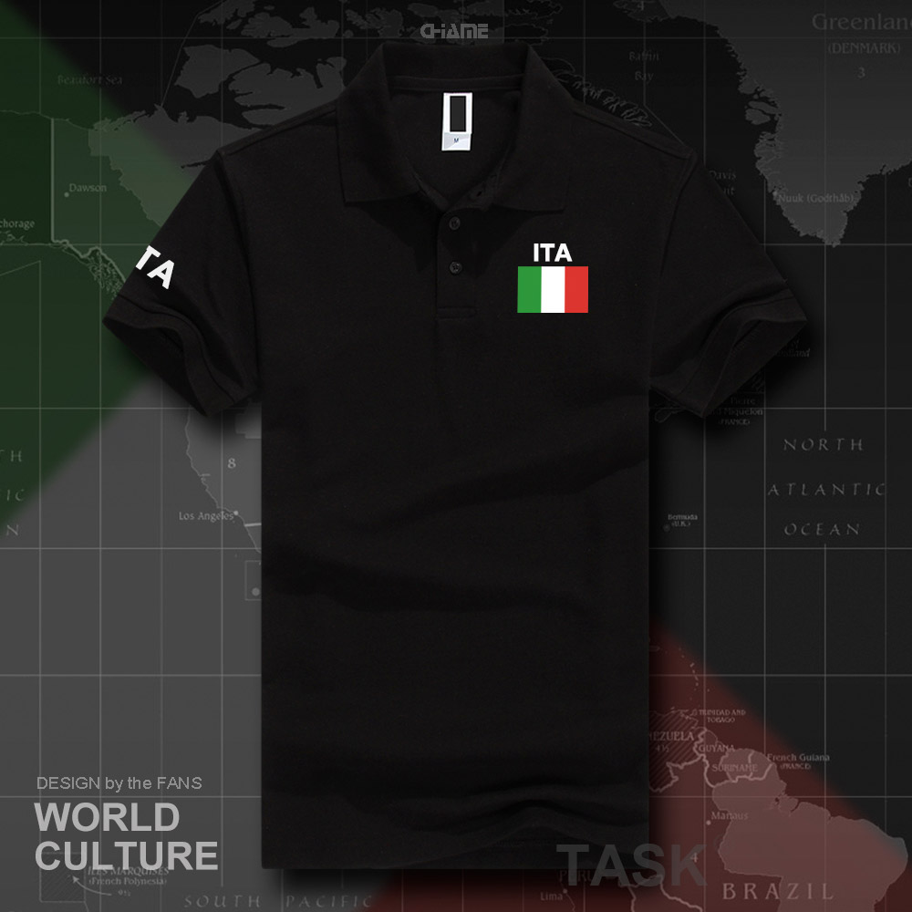 Italy Italia Italian   polo   shirts men short sleeve white brands printed for country 2017 cotton nation team flag ITA country top