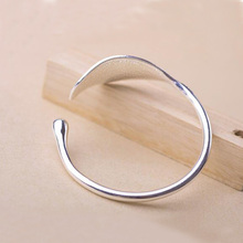 Silver Plated Plant Bangle for Women