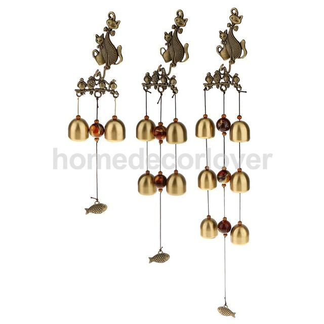 Chinese Wind Chime Lucky Cat Feng Shui Yard Garden Outdoor Decor 3 Types