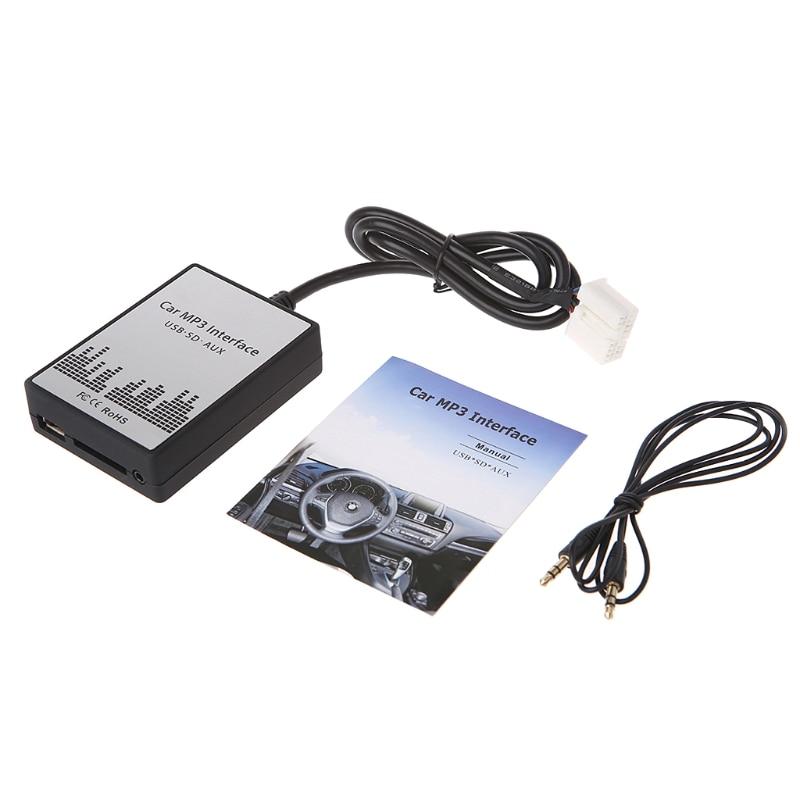 Новый Usb Sd Aux автомобиль MP3 Adapte CD изменение Suzuki Aerio, Grand Vitara, Ignis, Jimny II, Liana, всплеск, Swift, SX4, Wagen R +, X