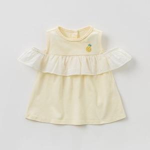 Image 4 - DBZ10529 dave bella summer baby girl clothes infant toddler sleeveless T shirt children boutique tops kids lolita tees