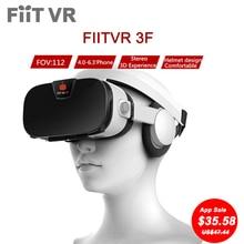 "Fiit 3F VR VR Headset Virtual de Vídeo Óculos 3D Estéreo realidade Smartphone Google Papelão Capacete vrbox Para 4 polegadas para 6.4 ""telefones"