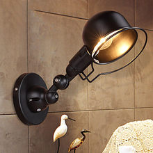 Art Deco LED Wall Sconce Industrial Lamp Iron Loft Vintage Wall Light For Home Antique Indoor Lighting Lampara Pared(China)