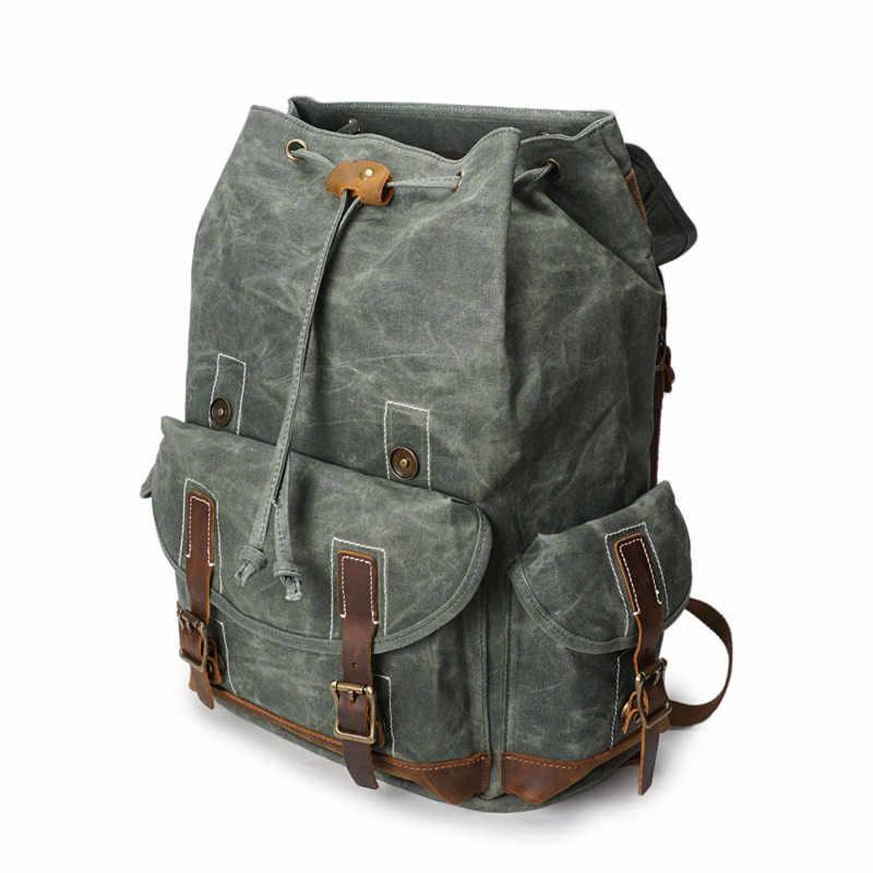 """Nesitu высокое качество водонепроницаемый винтажный армейский зеленый серый голубой холст для женщин мужчин рюкзак 14 """"ноутбук мужские дорожные сумки M5256"""