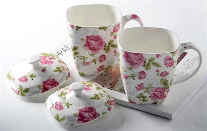500ml Cute Floral Rose Bone China Coffee Mug Creative Flower Designed Ceramic Water Cup Morning Milk Cup Wedding Gift Bone China Coffee Mugs Coffee Mugcoffee Mugs Design Aliexpress