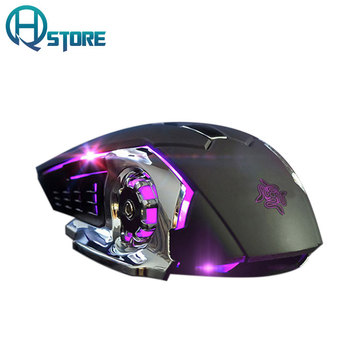 Rechargeable Ergonomic Gaming Mouse 3200DPI 6 Buttons Silent Computer Mouse USB Wired Mouse for PC Computer Laptop Gamer Mice เมาส์