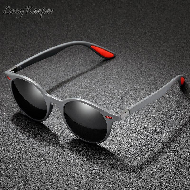 Long Keeper Sunglasses Polarized Woman Men Sun Glasses Oval PC Frame Driving Googles Eyeglasses Eyewear UV400 Shade Fashion New